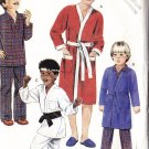 CUT Boys' Pajama Pant Robe Size M McCall's Sewing Pattern 2054 Retro Sleep Lounge Karate Outfit Set