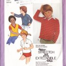 CUT Children's Knit Pullover Tops Sizes 3-5 Simplicity 9302 Boys' Girls' T-shirts Long Short Sleeves