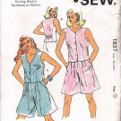 Ladies' Vest and Shorts Sizes Xs-L Uncut Kwik Sew 1837 Retro Women's Wide Leg Shorts Sleeveless Top