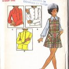 Retro Girls' Blouses and Jumper Size 14 Uncut Vintage Butterick 6421 Ruffled Ascot Jabot Collar Tops