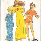 Retro Girls' PJs Nightgown Size 14 Uncut Vintage Simplicity 6688 Pajama Top Pants Nightshirt Panties