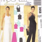Fancy Halter Bustier and Skirt or Pants Sizes 4-10 Uncut McCall's 3958 Prom Party Grad Black Tie