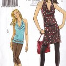 Cowl Halter Top Tunic and Leggings Sizes 4-10 Uncut Vogue 8401 Retro Chic Club Bar Party Knit Wear