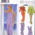 Women's Vest Shorts Capris and Pants Size 6-12 Uncut Simplicity 5565 Button Front Top Casual Outfit