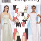 Princess Tops Skirts Pants Outfit Size 6-12 Uncut Simplicity 7219 Flirty Prom Party Wedding Formal