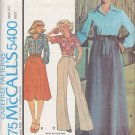 CUT 70s Blouse and Wrap Skirt Size 10 McCall's 5400 Women's Misses' Carefree Pattern Retro Mod Chic
