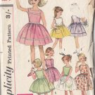 CUT Cute Girls' Vintage 50s Dress Size 8 Retro Simplicity 4456 Child's Frilly Mad Men Dolly Dress