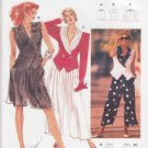 Retro Fitted Jacket Vest Pants Size 10-20 Uncut Burda 5049 Draped Collar Double Breasted Pointed Hem