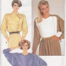 Power Glam 80s Wrap Blouse Size 12 Uncut Butterick 3591 Retro Secretary Asymmetrical Gathered Yoke