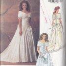 90s Bridal Gown Wedding Dress Size 6-10 Uncut Butterick 5898 Princess Renaissance Romance Lace Train