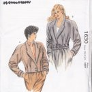 Retro Office Glam Jacket Size Xs-L Uncut Kwik Sew 1630 Vintage Power Pleats Raglan Cropped Jacket