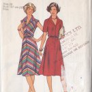 Ladylike Retro 70s Day Dress Size 20 Uncut Style 1808 Secretary Indie Chic Vintage Bias Collar Dress