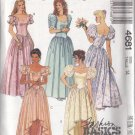 Retro Prom Party Bridesmaid Gown Size 14 Uncut McCall's 4681 Pretty Sweetheart Neckline Basque Waist