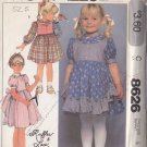 Sweet 80s Girl's Princess Dress Size 5 Uncut McCall's 8626 Bows Ruffles and Lace Puffy Full Skirt
