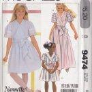 Sweet Princess Flower Girl Dress Size 8 Uncut McCall's 9474 Pleats Bows Ruffles Fancy Gathered Skirt