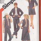 Women's Western Cowboy Denim Separates Size 12 Uncut Simplicity 5550 Retro Jeans Skirt Jacket Vest
