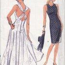 Crisscross Slim Sheath Flared Dress Size 12-16 Uncut Vogue 7988 Tea Garden Party Classic Elegance