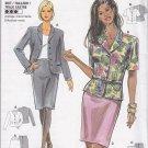 Ladylike Peplum Jacket Skirt Suit Size 8-18 Uncut Burda 3453 Office Chic Stylish Professional Wear