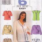 Chic Faux Wrap Knit Top Plus Size 22W-26W Uncut Butterick 3784 Trendy Feminine Casual Poet's Blouse