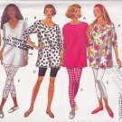 Loose Pullover Top and Knit Leggings Size L-XL Uncut Butterick 6659 Fun Casual Blossom Tunic Tights