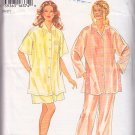 Silky Comfortable Pajamas Sleep Wear Size 14-26 Uncut New Look 6302 Satin Rayon PJs Shorts Pattern