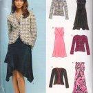 Sophisticated Femme Chic Dress Suit Size 6-16 Uncut New Look 6402 Elegant Empire Waist Dress Jacket