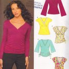 Chic Empire Waist Knit Top Size 10-22 Uncut New Look 6430 Flirty Ruche Gathers V-neck Bell Sleeves