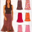 Flirty Flamenco Swirly Ruffled Skirt Sz 8-18 Uncut New Look 6463 Sexy Feminine Trendy Flowing Skirt