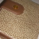 Cream Speckled Brown Suede Calf Leather Kisslock Wallet Elegant Mod Classic Borbonese Redwall Italy