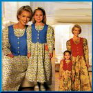 Mother and Daughter Charming Matching Dress All Sizes Uncut Simplicity 0656 Country Cottage 90s Chic