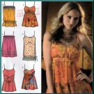 Trendy Flirty Babydoll Camisole Tops Size 6-14 Uncut Simplicity 4279 Sexy Boho Chic Sweetheart Tank