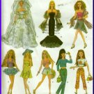 "Trendy Clothing 11.5"" Dolls Simplicity Sewing Pattern 4719 Evening Bridal Gown Summer Dresses"