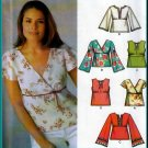 Feminine V-neck Pullover Shirt Size 16-22 Uncut Simplicity 5099 Flared Boho Sleeves Pretty Gathers