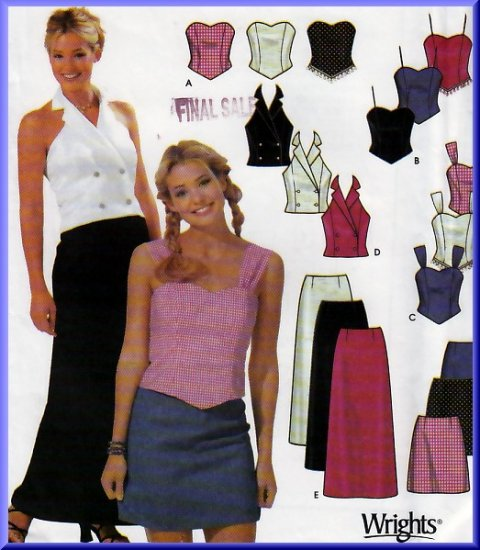 Juniors' Sweetheart Top Miniskirt Sz 11/12-15/16 Simplicity Sewing Pattern 7101 Prom Party 2-Piece