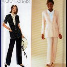 Smart Mock Blouse Jacket and Pants Size 6-10 Uncut Simplicity 7334 Princess Seams Embellished Front