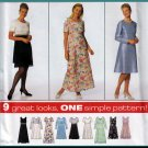 Design Your Own Empire Bodice Dress Size 16-20 Uncut Simplicity 7455 Classic Round Neck Flared Skirt