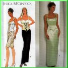 Alluring Bustier Top and Skirt Size 16-20 Uncut Simplicity 7637 Elegant Glamour Jessica McClintock