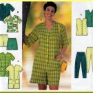 Chic Jumpsuit Top Vest Pants Shorts Plus Size 18W-24W Uncut Simplicity 7673 Flattering Full Figure