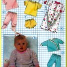 Babies' Bunting Knit Outfit Sz 18MO Simplicity Sewing Pattern 8968 Vintage 80s Stretch Tops Bottoms