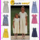 Girl's Full Gathered Skirt Dress Size 8-14 Simplicity Sewing Pattern 8030 Six Made Easy Styles