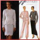 Scalloped Hem Fitted Jacket and Skirt Suit Size 12-16 Uncut Simplicity 8519 Feminine Elegant Stylish