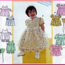 Infants' Dress Pinafore Bonnet Size NB-L Simplicity Sewing Pattern 8538 Special Occasion Outfit