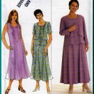 Feminine Princess Seamed Dress Plus Size 26W-32W Uncut Simplicity 8618 Pullover Cardigan Front Top