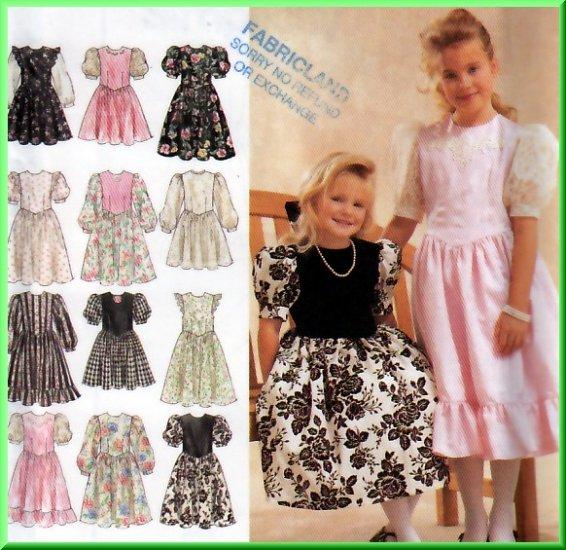 Girls' Puffy Princess Dress Size 3-6 Simplicity Sewing Pattern 8967 Pretty Skirt Gathers Ruffles