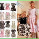 Girls' Puffy Princess Dress Size 3-6 Simplicity Sewing Pattern 8967 Pretty Skirt Gathers Ruffles