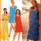 Basic Pullover Scoop Neck Dress Sz 8-18 Uncut Simplicity 9691 Effortless Casual Long or Short Dress