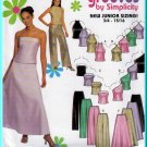 Youth Evening 2-piece Outfit Sz 3/4-9/10 Simplicity Sewing Pattern 9775 Strapless Top Wide Leg Pants