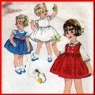 Darling Toddlers' Vintage 60s Dress Sz 2 Simplicity Sewing Pattern 5239 Sweet Girls' Blouse Jumper