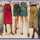 CUT Vintage 70s Women's Jiffy Skirts Size 16 Simplicity 9099 Simple-to-Sew Classic Skirts 3 Lengths