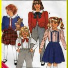 CUT Charming Retro School Girls' Uniform Size 5-6x Butterick 3439 Child's Formal Jacket Blouse Skirt